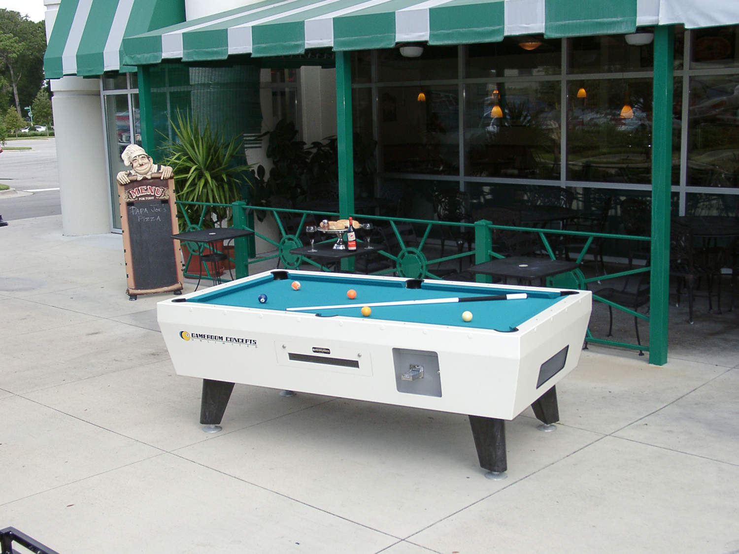 white dining robbies aramith table top products billiards outdoor metal fusion pool lacquer base