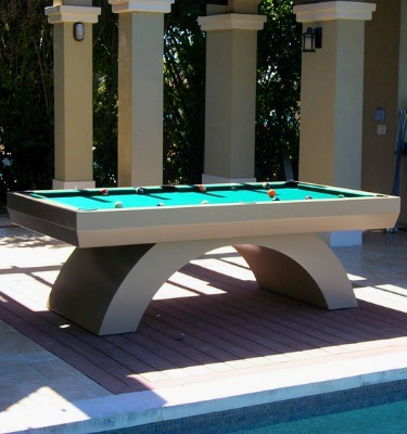 Outdoor all weather contemporary pool table