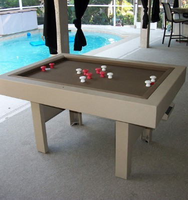 All weather out door bumper pool table