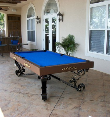 Out door all weather pool table