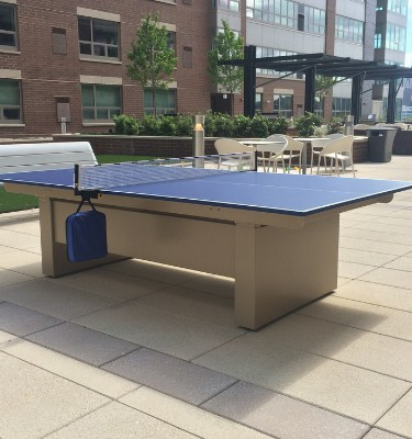 All weather outdoor ping pong conversion tops