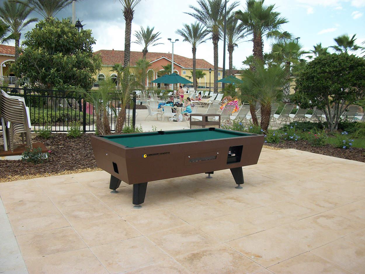 Coin Operated Pool Table Outdoor Pool Tables