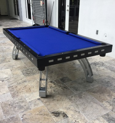All weather outdoor contemporary pool table