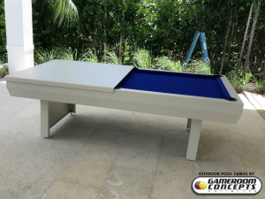 Formal dining tops for outdoor pool table