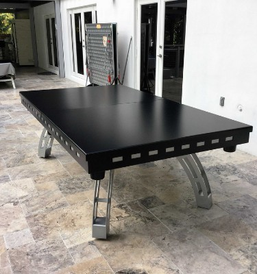All weather outdoor formal pool table dining tops