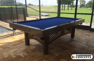 Traditional outdoor all weather traditional pool table