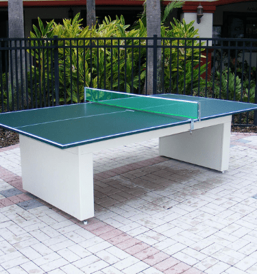 All weather outdoor ping pong table