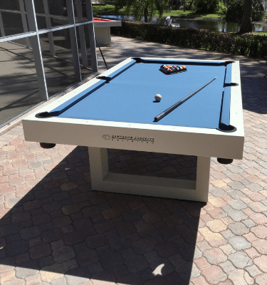 All weather outdoor pool table