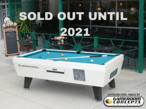 Outdoor Coin Operated Pool Table