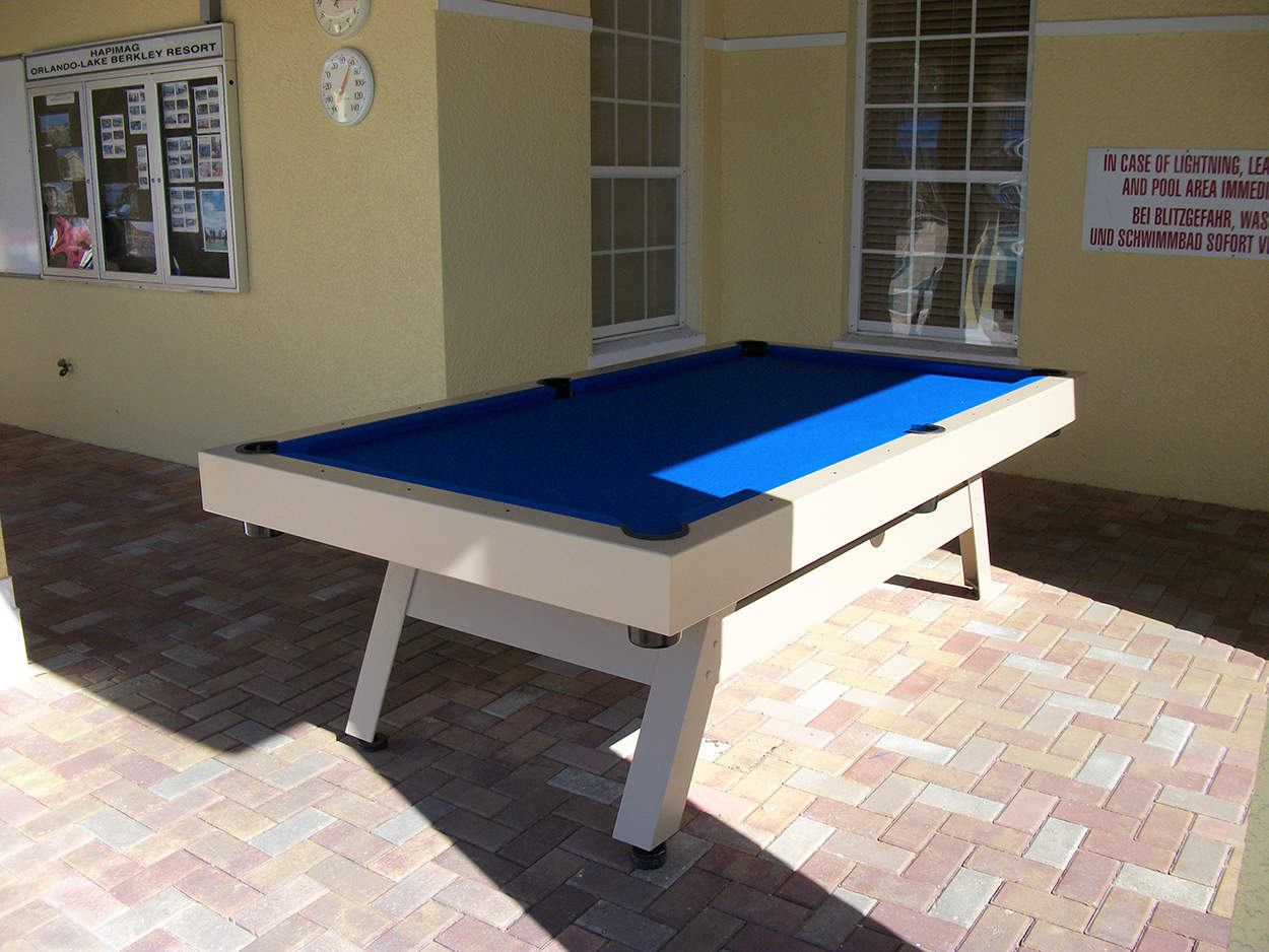 E Series Contemporary Tables Outdoor Pool Tables - Travel pool table