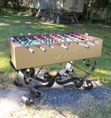 All weather outdoor foosball table