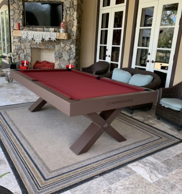 All weather outdoor pool table,